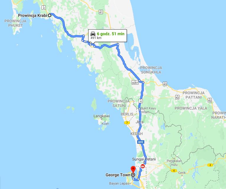 Autostop w Tajlandii i Malezji